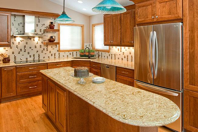 designed kitchen cabinets